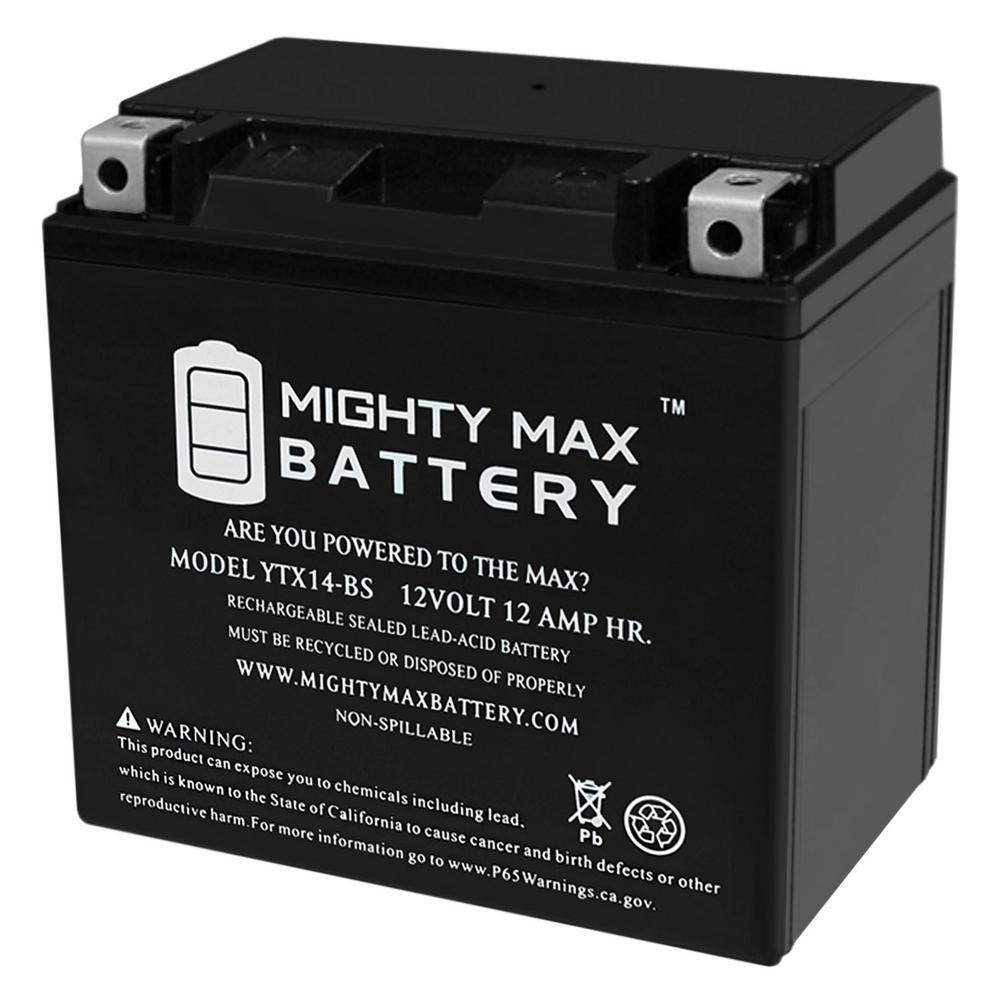 MIGHTY MAX BATTERY 12-Volt 12 Ah 200 CCA Rechargeable Sealed Lead Acid (SLA) Powersport Battery