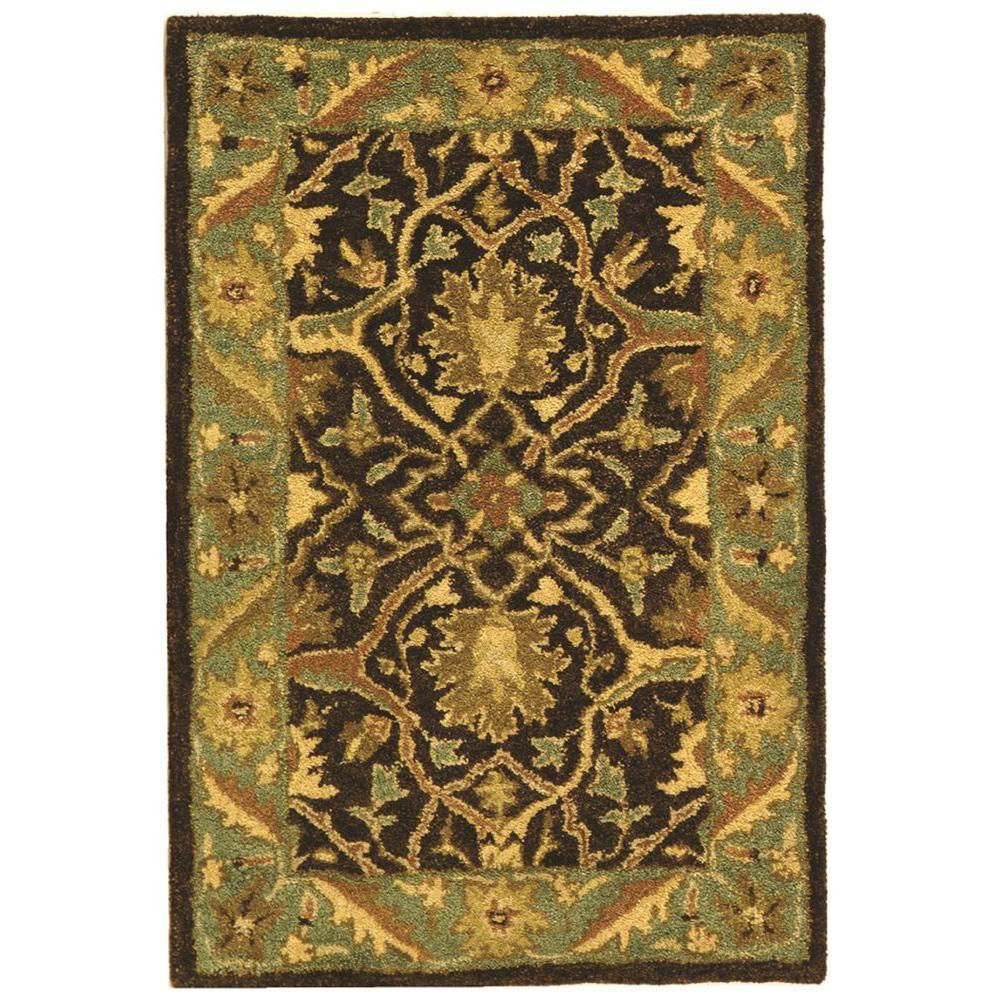 Antiquity Brown/Green 2 ft. x 3 ft. Area Rug