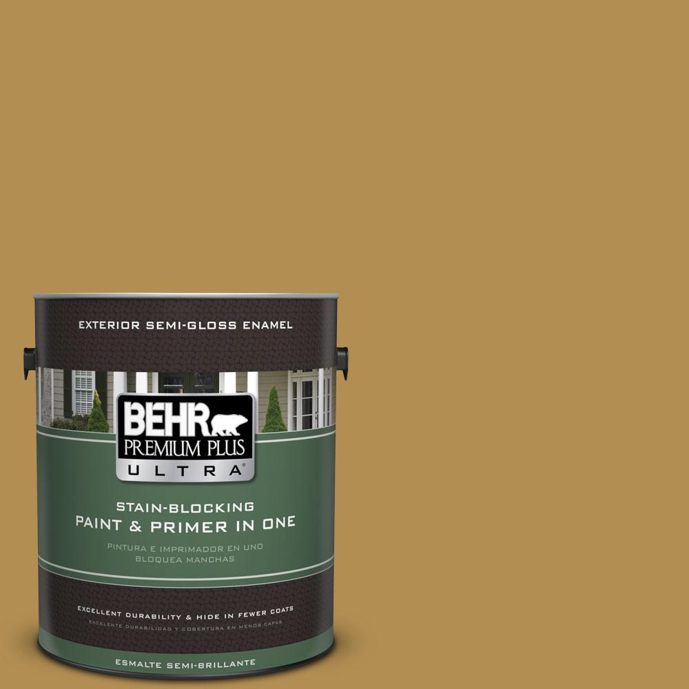 1-gal. #350D-6 Bronze Green Semi-Gloss Enamel Exterior Paint
