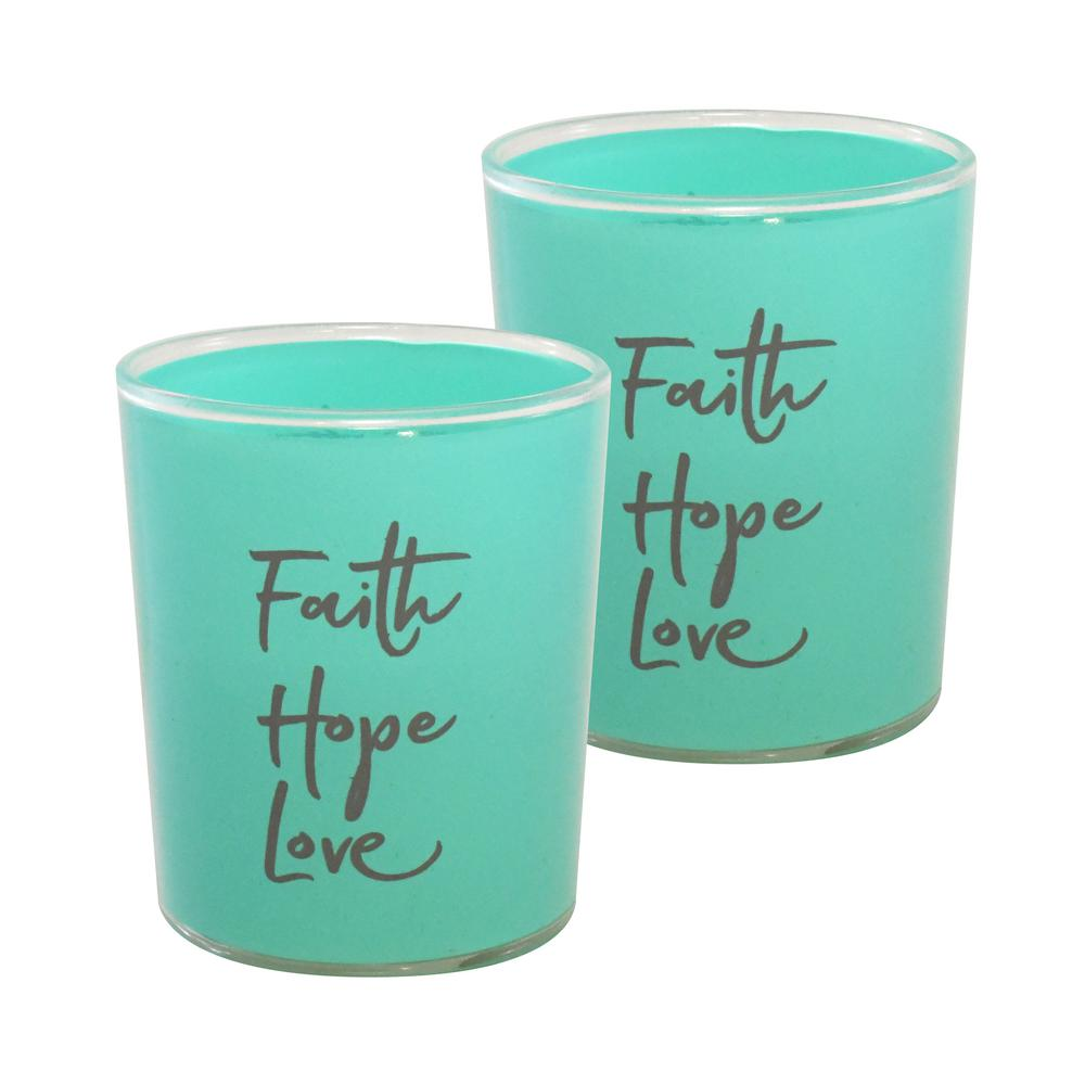 Battery Operated LED Candles - Faith Hope Love (Set of 2)
