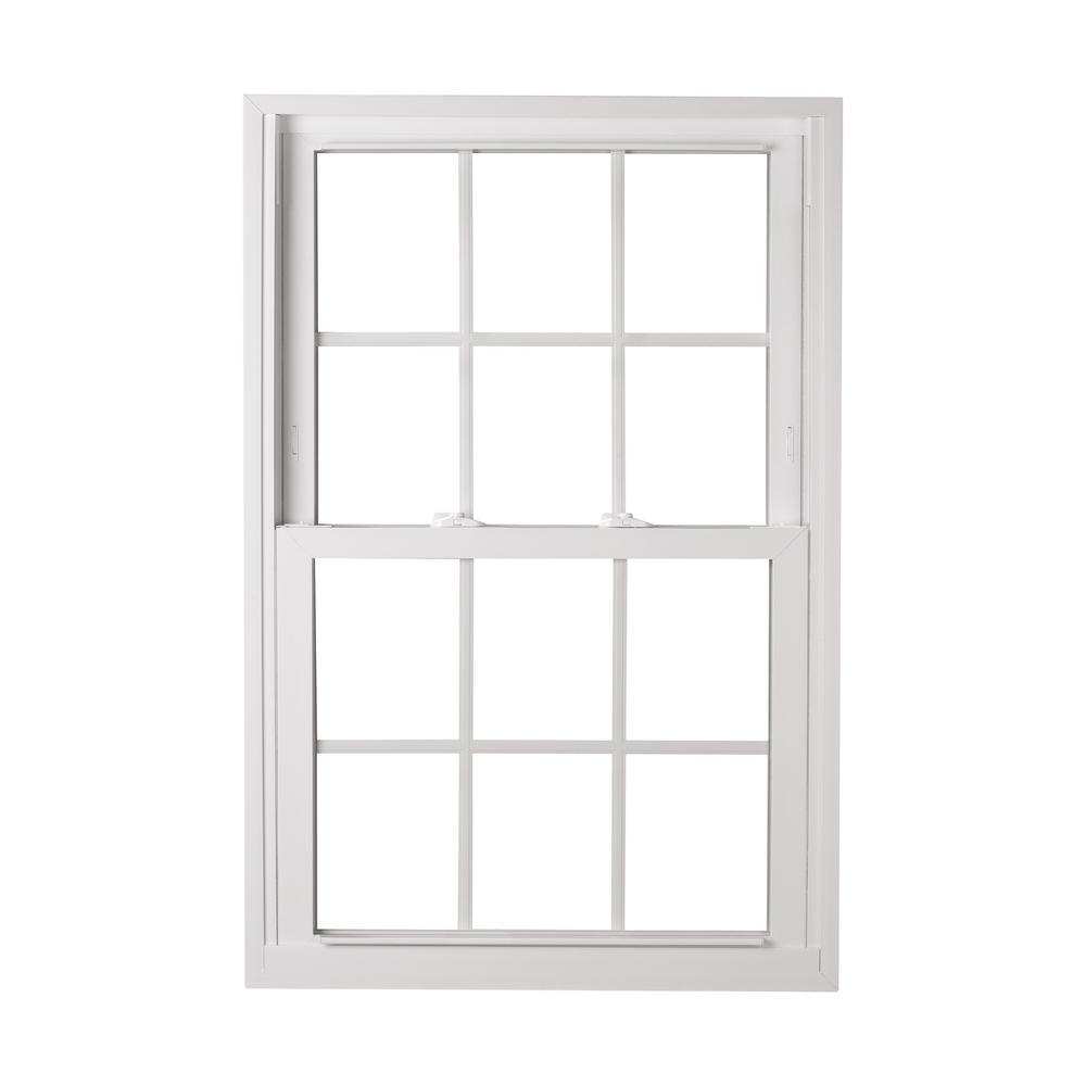 decorative window grilles wrought iron american craftsman 3075 in 5725 70 pro double hung buck vinyl window