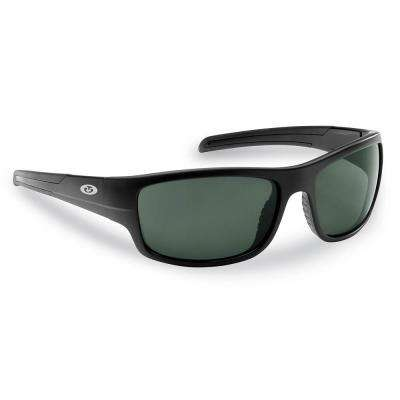 Shoal Polarized Sunglasses Matte in Black Frame with Smoke Lens