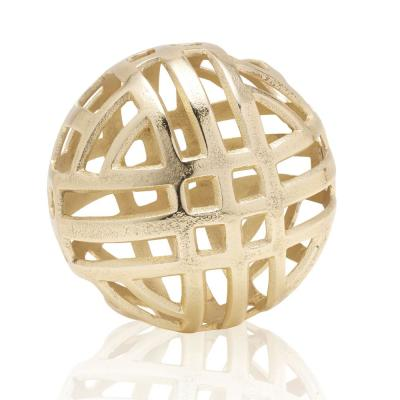 Gold Metal Sphere Ball Figurine
