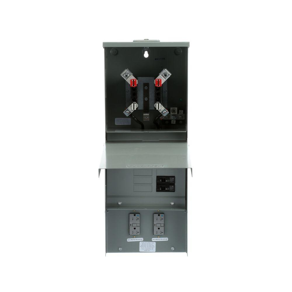 Talon Temporary Power Outlet Panel with Two 20 Amp Duplex ...