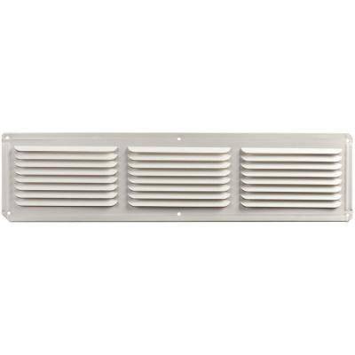 16 in. x 4 in. Aluminum Under Eave Soffit Vent in White