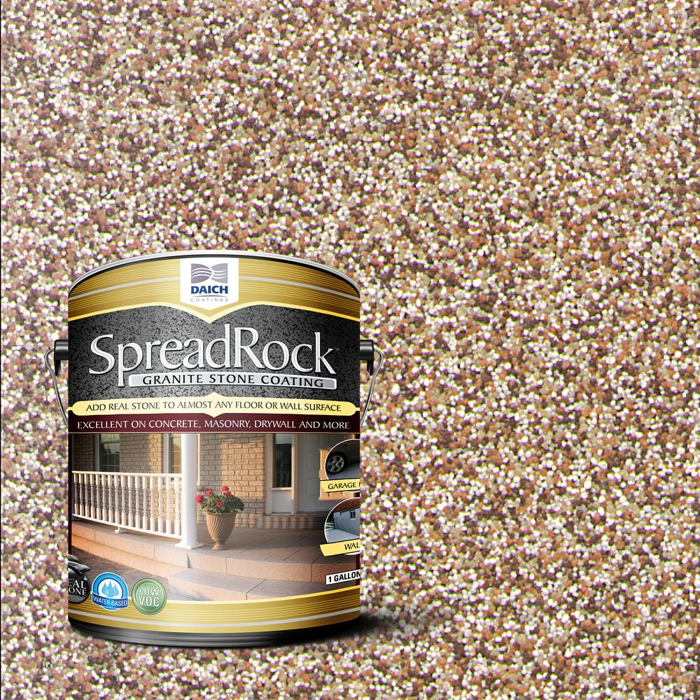 SpreadRock Granite Stone Coating 1 gal. Brownstone Satin Interior/Exterior Concrete Resurfacer and Sealer