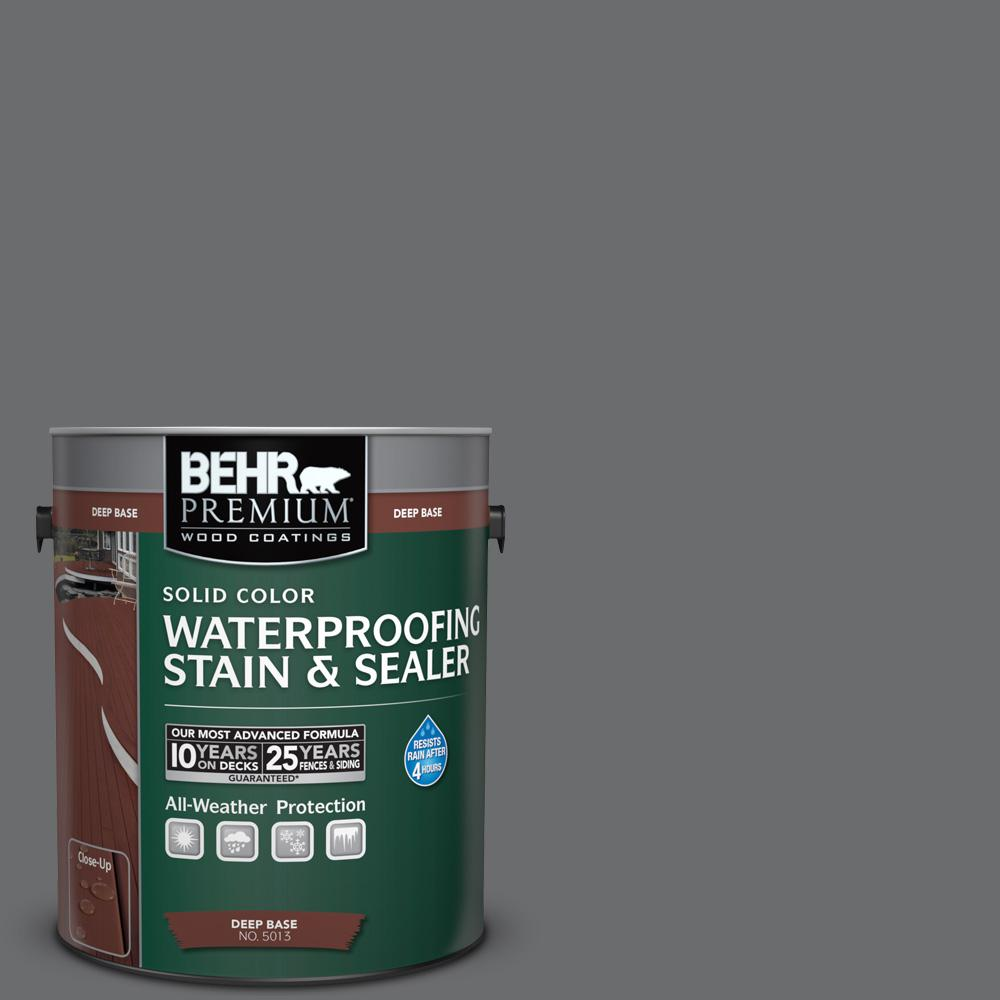 1 gal. #770F-5 Dark Ash Solid Color Waterproofing Exterior Wood Stain