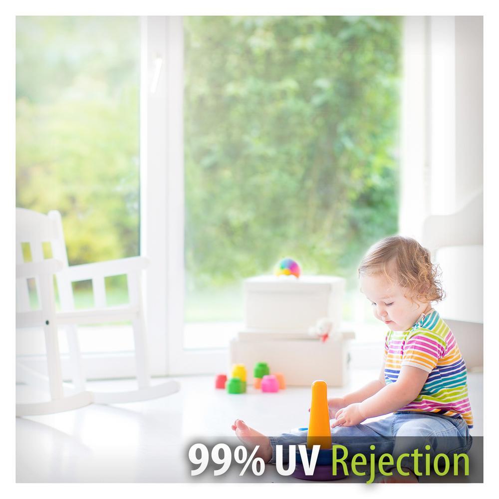 """12/"""" x 50 ft Clear UV Blocking Window Film"""