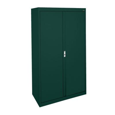 System Series 30 in. W x 64 in. H x 18 in. D Forest Green Double Door Storage Cabinet with Adjustable Shelves