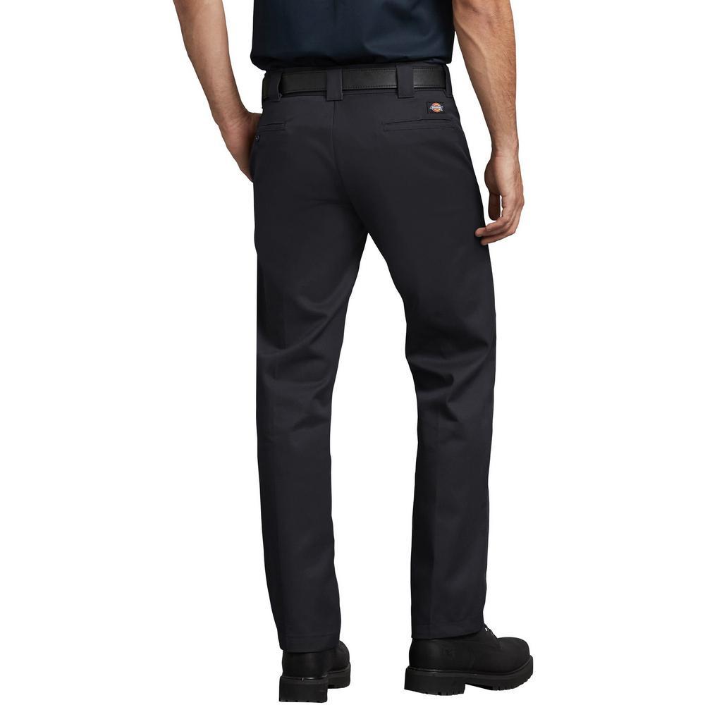 29cfb7eb299dc Dickies Men's Black Slim Fit Straight Leg Work Pants