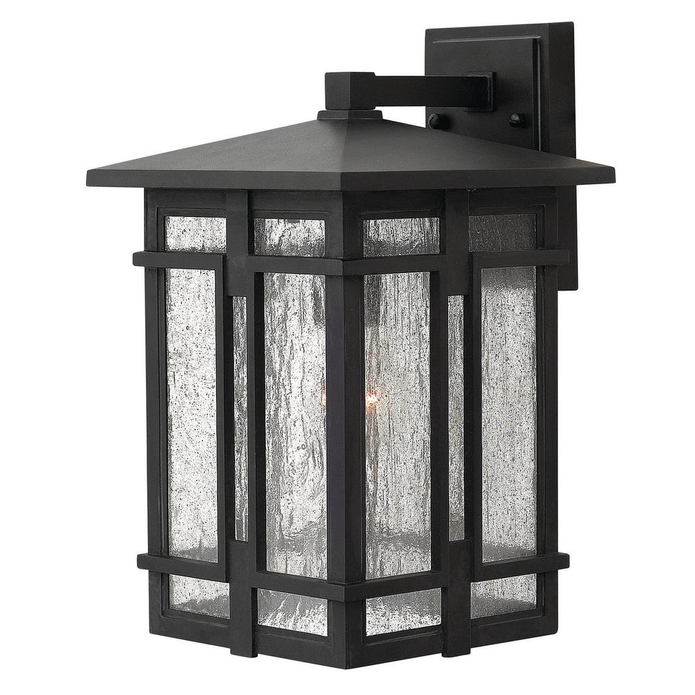 "Hinkley Lighting 1390 15/""H 1 Light Lantern Outdoor Wall Sconce Black"