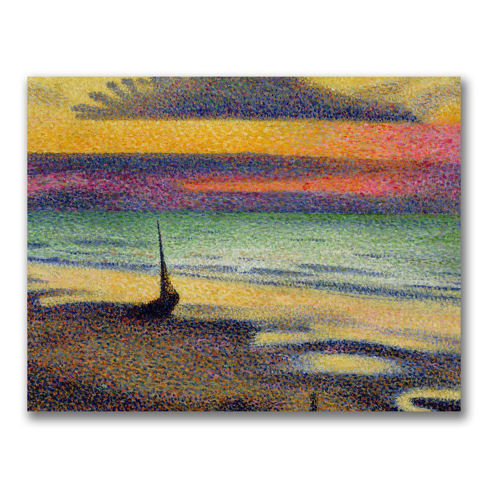 Trademark Fine Art 24 in. x 32 in. The Beach at Heist Canvas Art