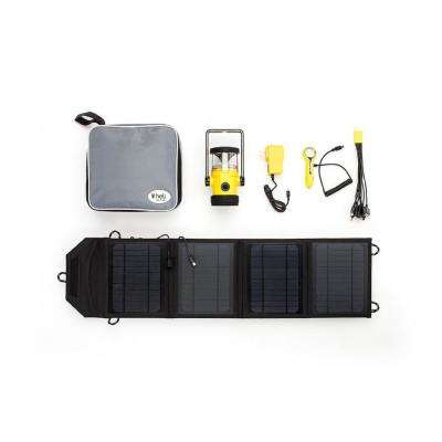 Heli 4400 Kit AC Wall Adapter/10-in-1/DC Car Charger/Carrying Case/14-Watts Solar Panel with USB Connection in Yellow