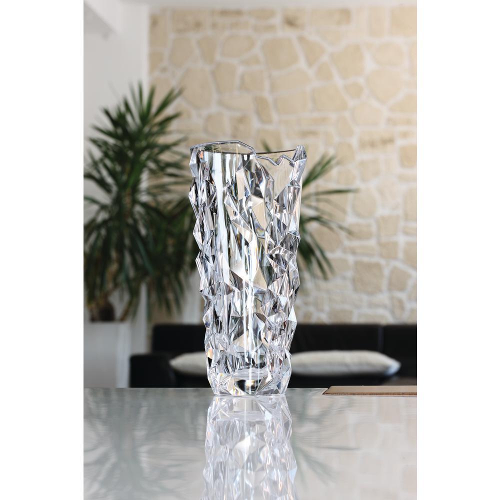 Crystal Home Decor: Nachtmann Sculpture 13 In. Crystal Decorative Round Vase