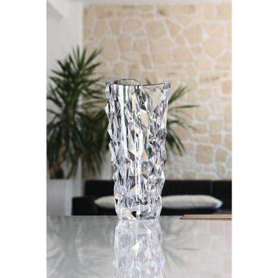 Sculpture 13 in. Crystal Decorative Round Vase