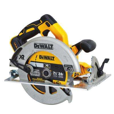 20-Volt MAX Lithium-Ion Cordless 7-1/4 in. Circular Saw with Brake (Tool-Only)
