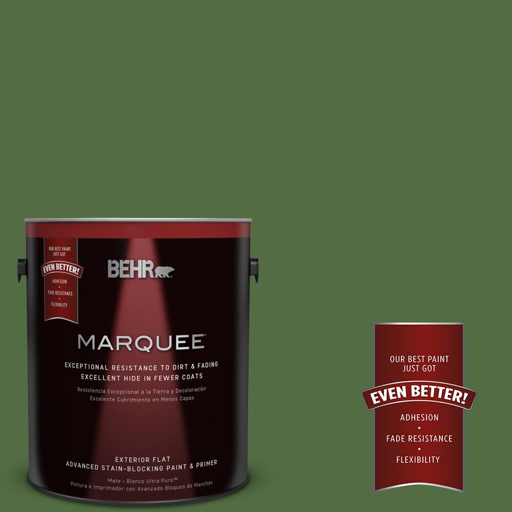 BEHR MARQUEE 1-gal. #430D-7 Pacific Pine Flat Exterior Paint