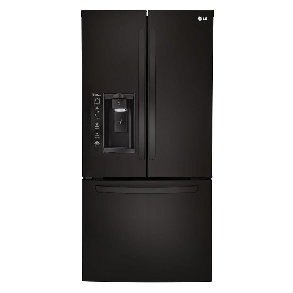 unusual refrigerator lg double door. LG Electronics 33 in  W 24 2 cu ft French Door Refrigerator Smooth