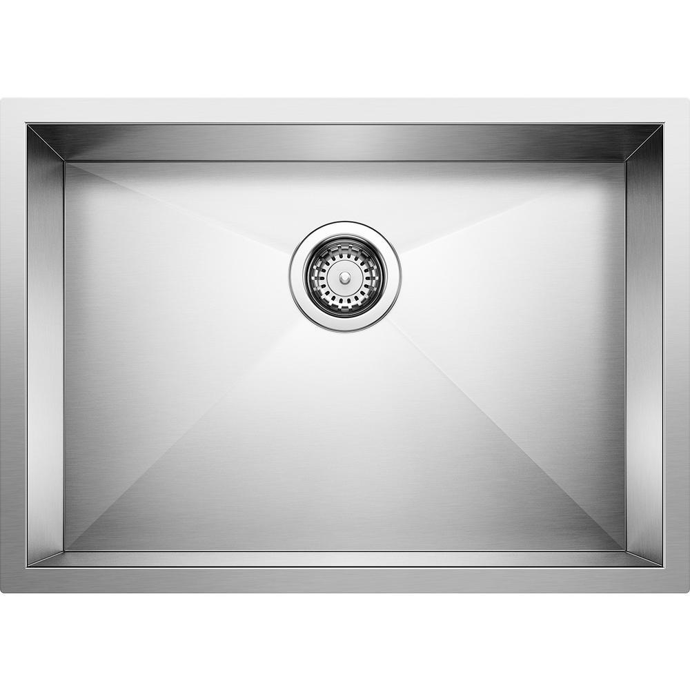 QUATRUS R0 Undermount Stainless Steel 25 in. Single Bowl Kitchen Sink