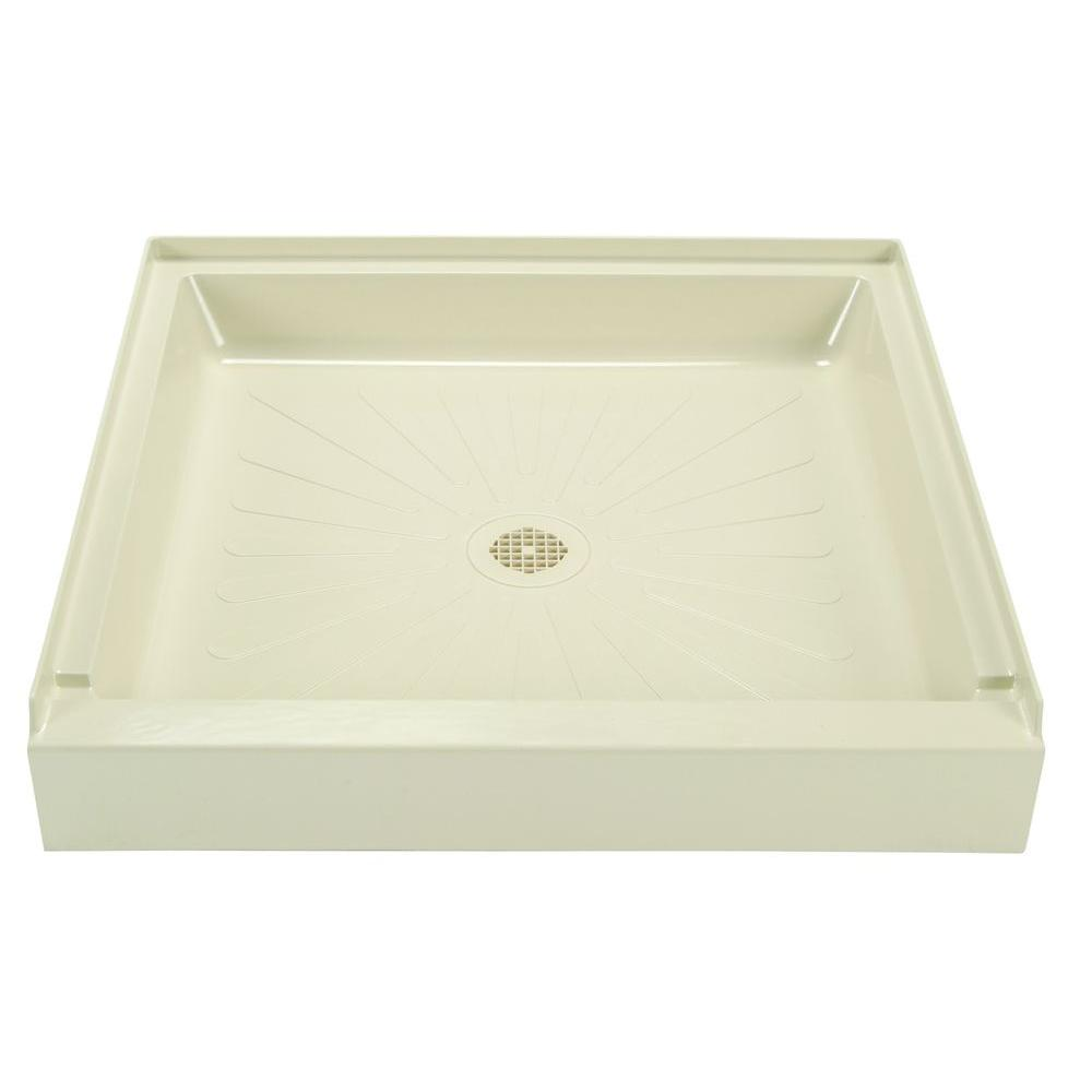 null 36 in. x 36 in. Single-Threshold Shower Floor Base in Bone