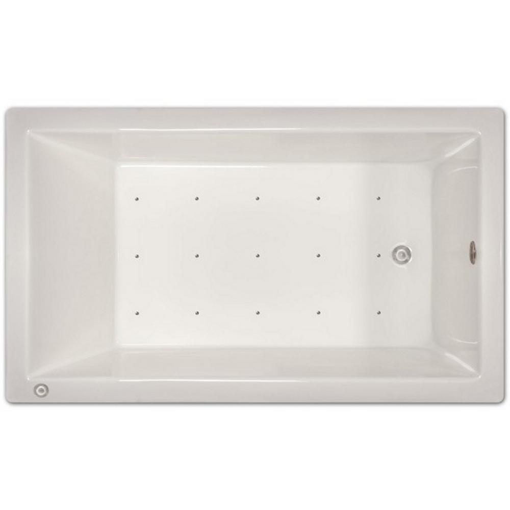 6 ft. Left Drain Drop-In Air Bath Tub in White