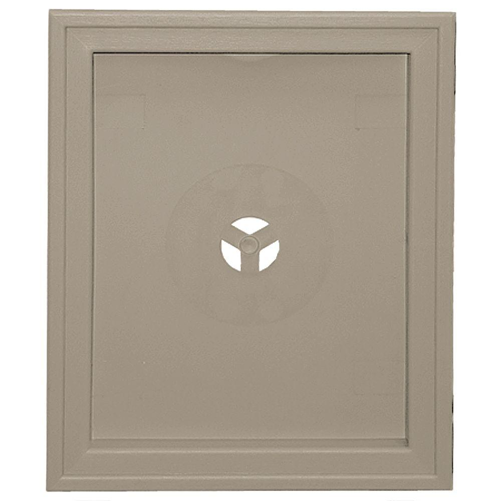 Builders Edge 6.75 in. x 8.75 in. #097 Clay Large Recessed Mounting Block