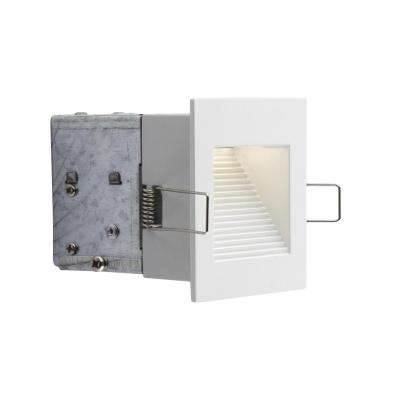 Wall Series 3 in. Matte White LED Recessed Fixture