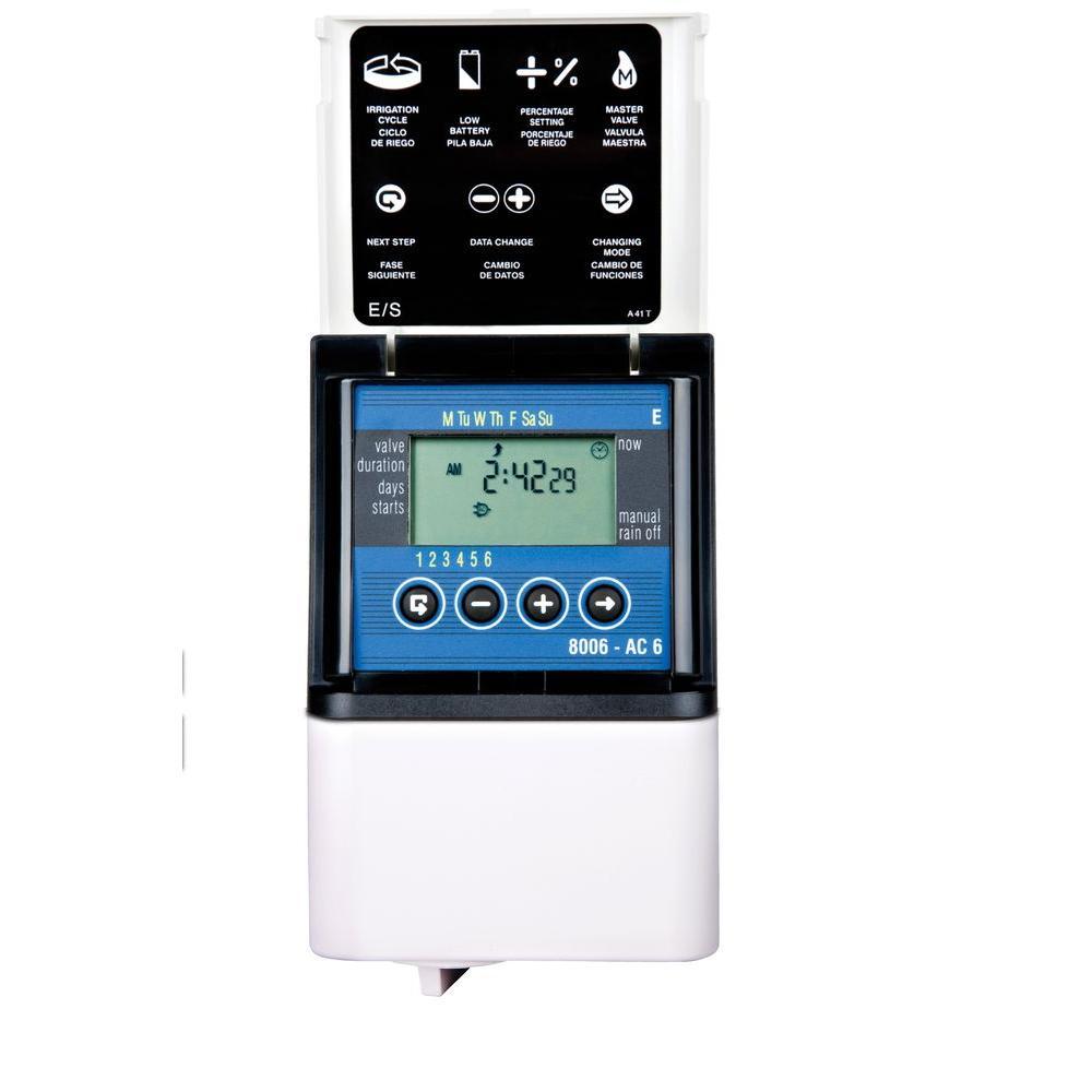 6 Zone Digital AC Sprinkler Timer
