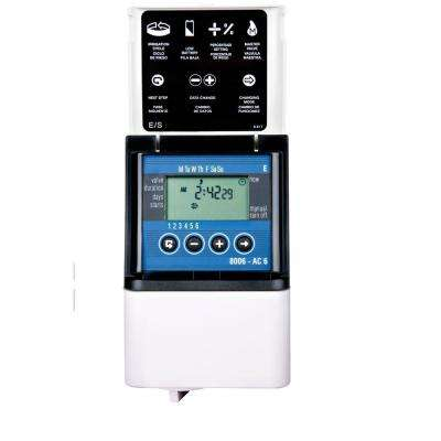 6 Zone Digital AC Sprinkler Timer
