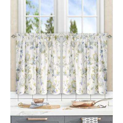 Abigail Porcelain Polyester/Cotton Tailored Tier - 56 in. W x 24 in. L