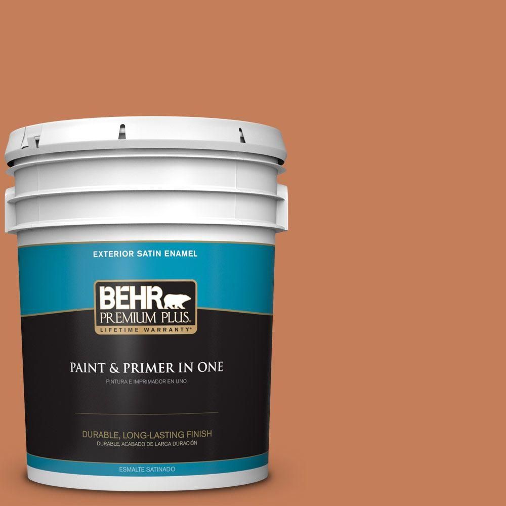 5-gal. #M210-6 Orange Liqueur Satin Enamel Exterior Paint