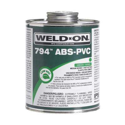 32 oz. ABS-PVC 794 Transition Cement in Green (Carton of 12)