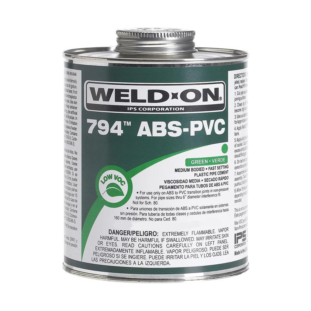 Weld-On 8 oz. ABS in PVC 794 Transition Cement in Green