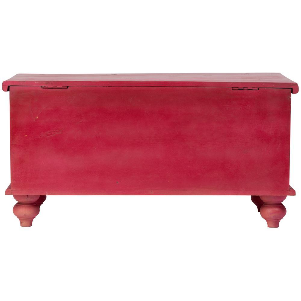 Leela Red Handcarved Medallion Storage Trunkcoffee Table 05 114 12