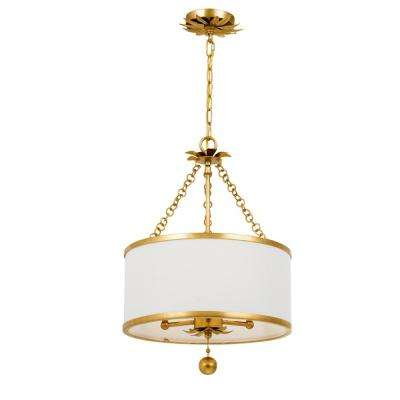 Broche 3-Light Antique Gold Chandelier