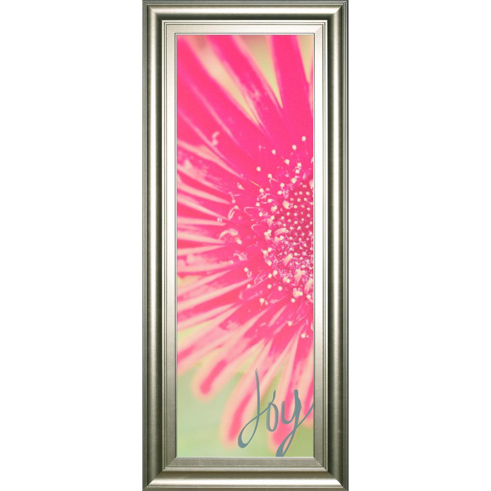 "18 in. x 42 in. ""Joy Flower"" by Susan Bryant Framed Printed Wall Art"