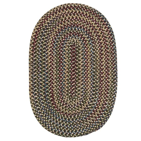Colonial Mills Millwork Brown 7 Ft X 9 Ft Tweed Indoor Oval Area Rug Mw04r084x108 The Home Depot