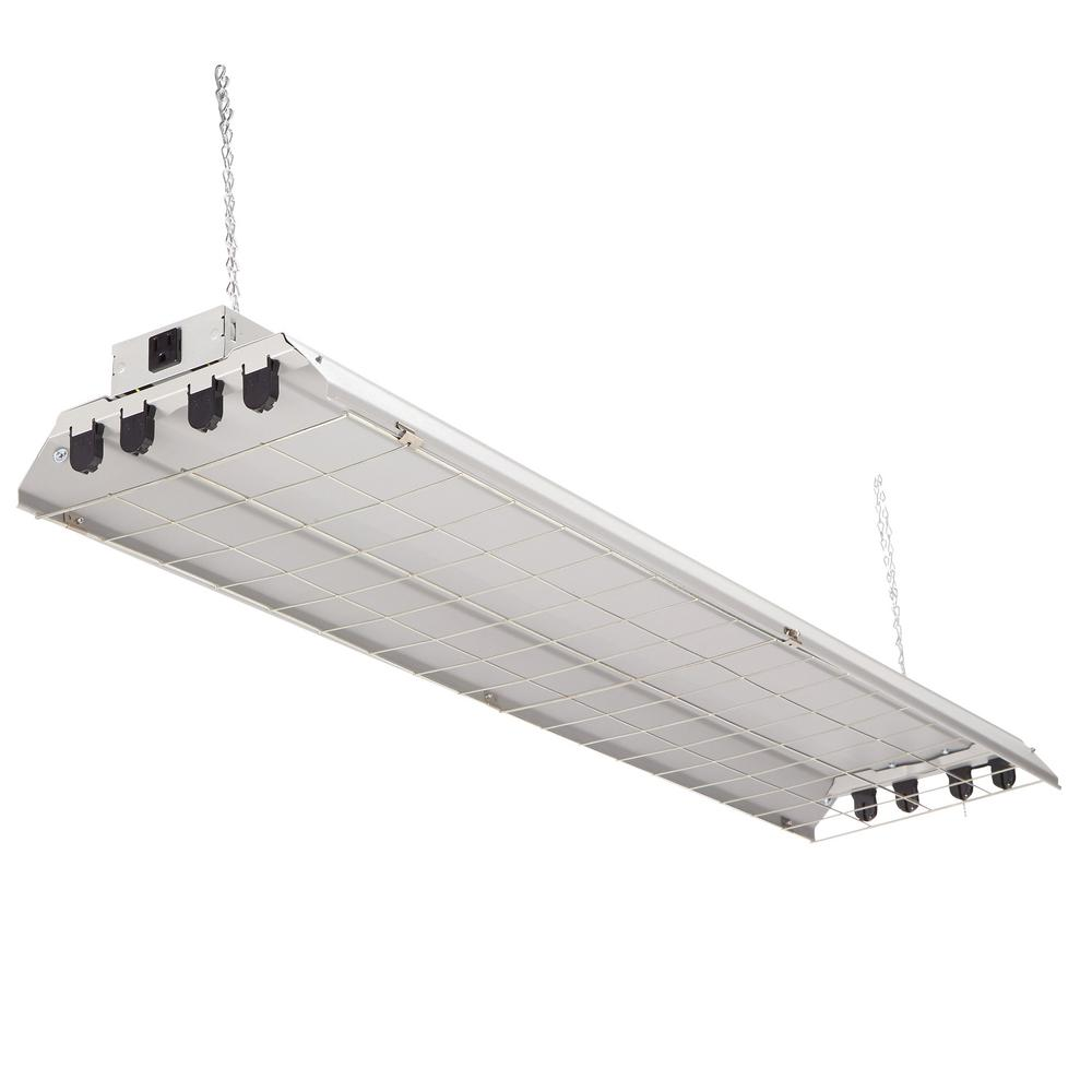 Lithonia Lighting 4-Light Grey Fluorescent Heavy-Duty Shop Light ...