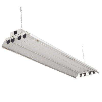 4-Light Grey Fluorescent Heavy-Duty Shop Light