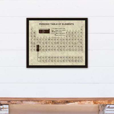16 in. x 20 in. ''Distressed Periodic Table'' Printed Framed Canvas Wall Art