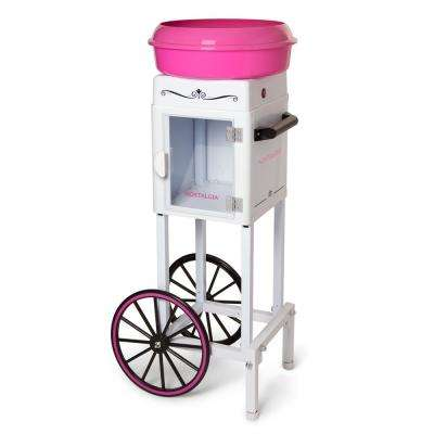3-Foot Tall Hardand Sugar-Free Candy Cotton Candy Cart in Pink