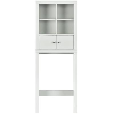 24 in. W x 65 in. H x 8 in. D Space Saver in White