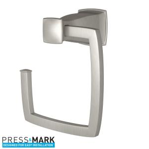 Moen Hensley Towel Ring with Press and Mark in Brushed Nickel by MOEN
