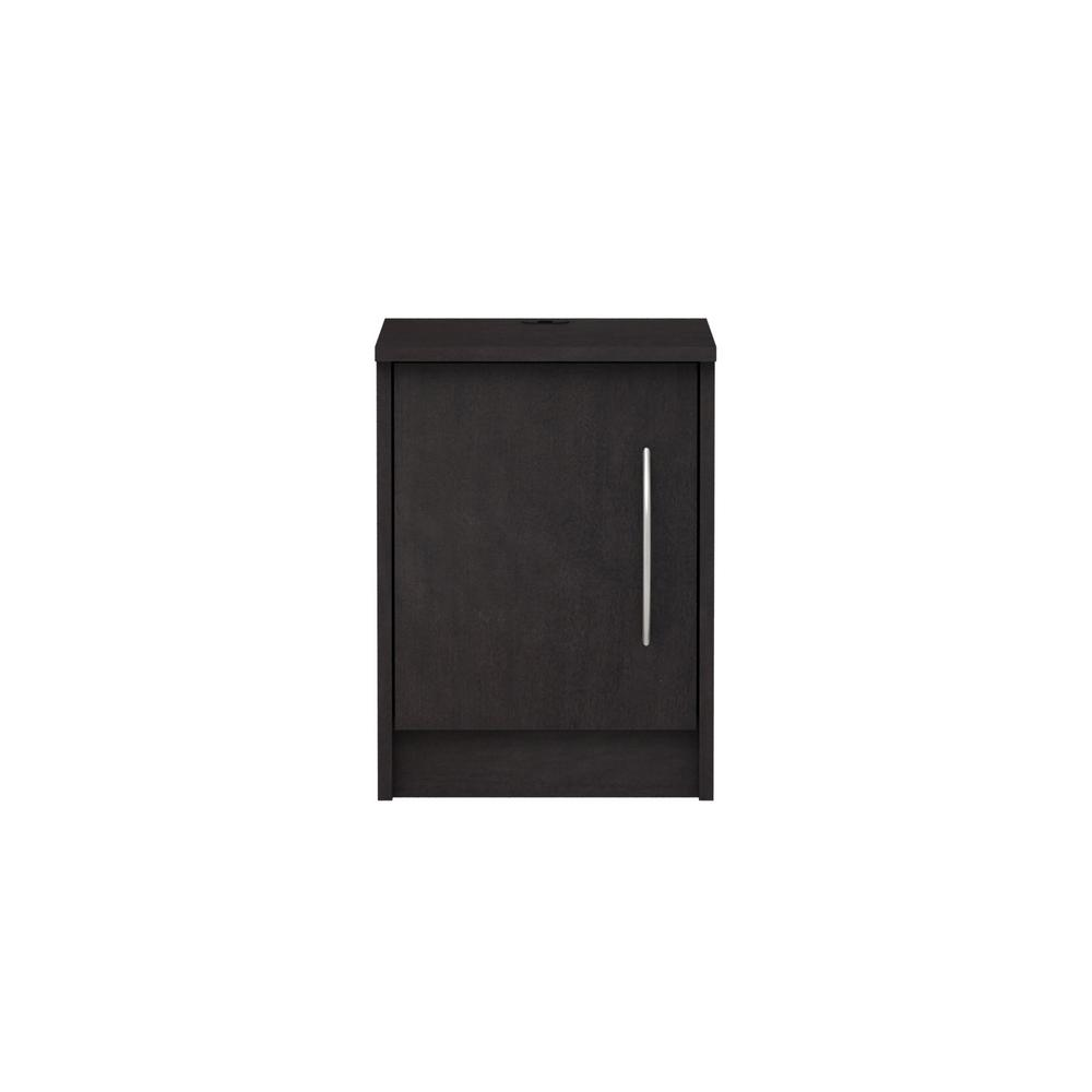 Homestar Oriole 1 Door Black Brown Nightstand H7113 The