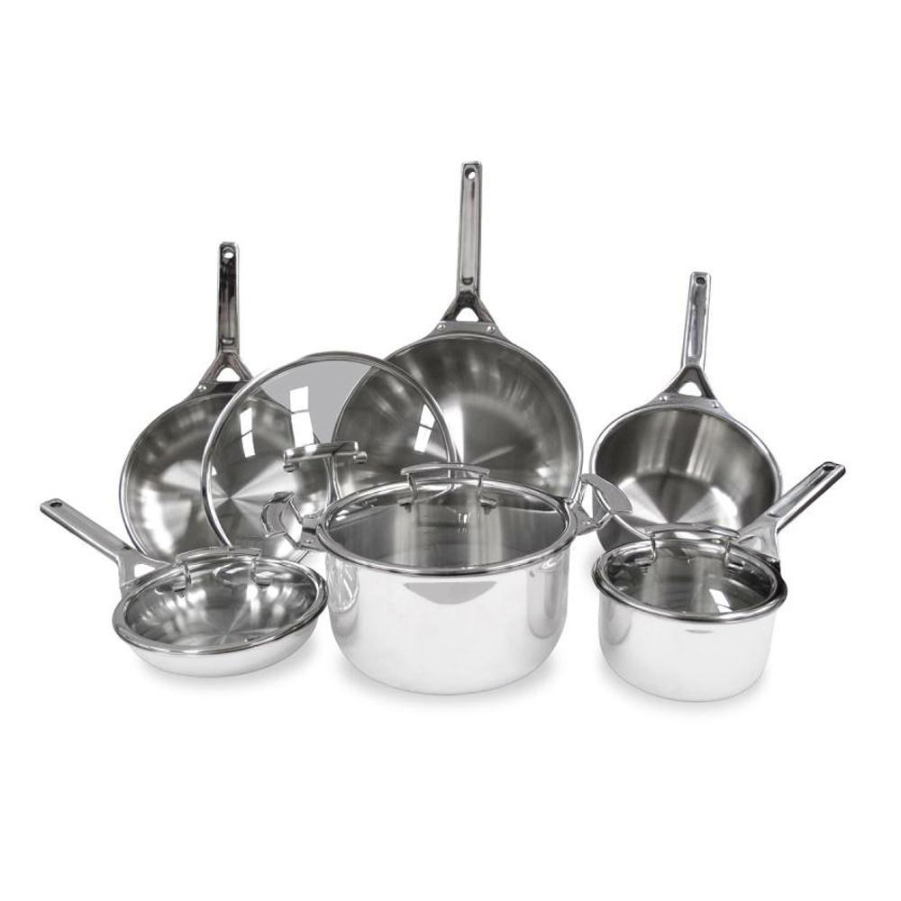 Tigourmet 10-Piece Stainless Steel Cookware Set