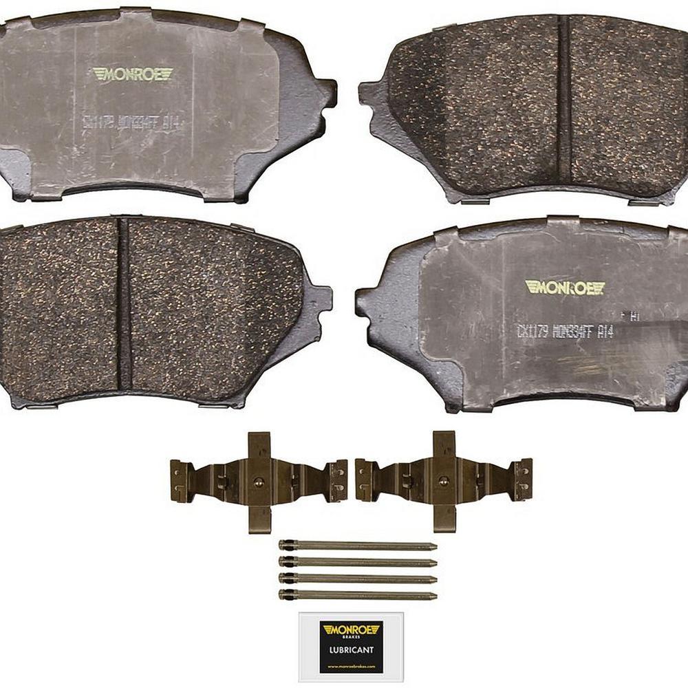 Front Monroe Total Solution Ceramic Brake Pads fits 2006-2015 Mazda MX-5 Miata