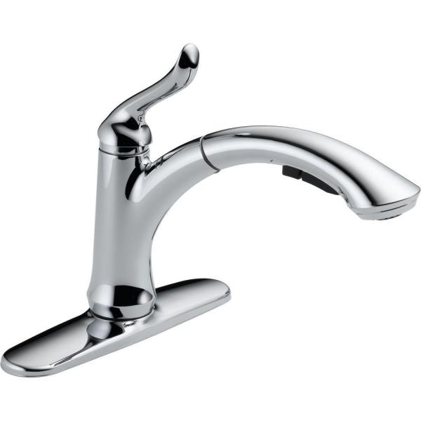 Linden Single-Handle Pull-Out Sprayer Kitchen Faucet With Multi-Flow In Chrome