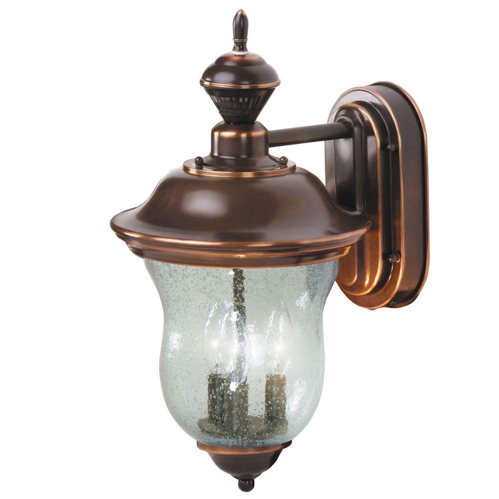 Heath Zenith 150 Degree Concord Motion Sensing Decorative Lantern - Antique Copper-DISCONTINUED