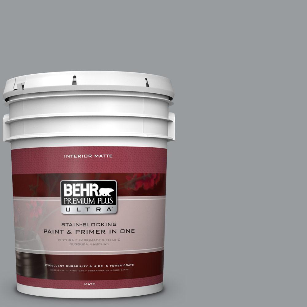 BEHR Premium Plus Ultra 5 gal. #N500-4 Pencil Sketch Matte Interior Paint