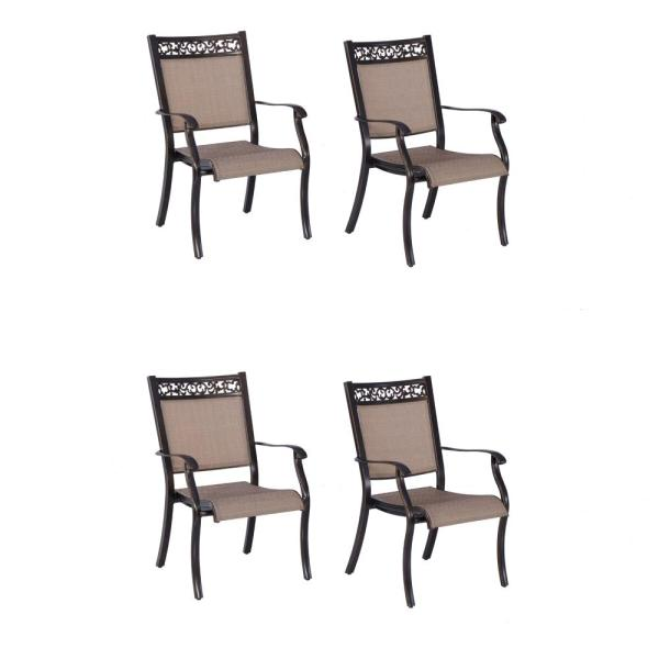 Cast Aluminum Outdoor Dining Chair (Set of 4)